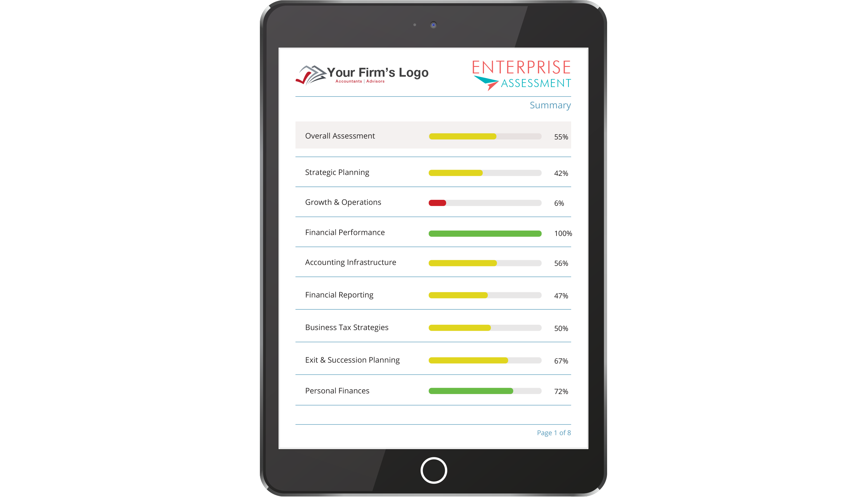 Tablet preview of Enterprise Assessment